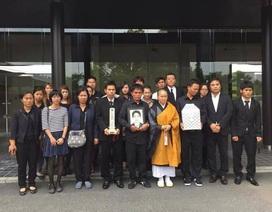 Tro cốt nam sinh tắm sông tử nạn tại Nhật Bản đã được đưa về quê nhà