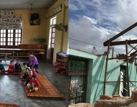 Phòng học đổ sập, cô trò xin 'tá túc' ở nhà văn hóa thôn