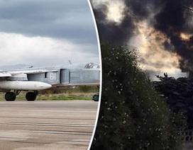 Hiện trường vụ rơi Su-24 của Nga khiến phi công tử nạn