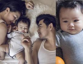 Ngọc Lan - Thanh Bình tung ảnh con trai kháu khỉnh 2 tháng tuổi