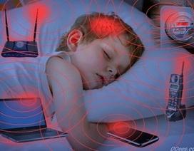 """Cảnh báo: Đừng để trẻ em """"ngủ chung"""" với điện thoại di động"""
