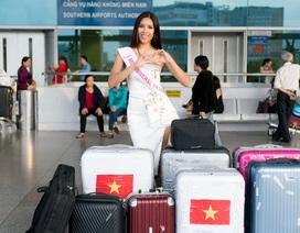 Nguyễn Thị  Loan mang hơn 200kg hành lý lên đường đến Miss Universe
