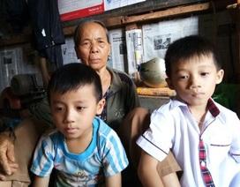 Mẹ u não, cha gãy cột sống, 2 con thơ bơ vơ