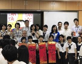 60 học sinh Nhật Bản trải nghiệm học tập tại Hà Nội