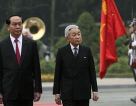Chủ tịch nước đón Nhà vua Nhật Bản và Hoàng hậu