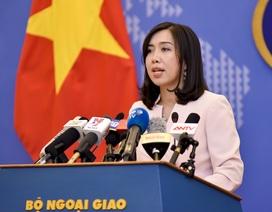 Việt Nam lên tiếng việc Trung Quốc tập trận trên Biển Đông