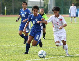 Tuyển nữ Việt Nam thắng nhẹ Philippines trong trận ra quân tại SEA Games