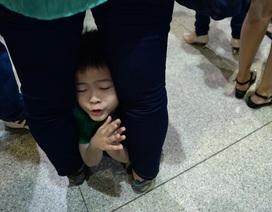 Muôn kiểu ngủ vật vờ ở sân bay chờ đón người thân về Tết