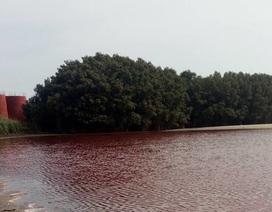 """Báo động hiện tượng """"dòng sông đỏ"""" ở quốc gia châu Phi do nhà máy Trung Quốc"""
