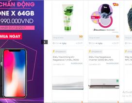 Có thể mua Iphone X giá 5 triệu đồng vào ngày mua sắm trực tuyến