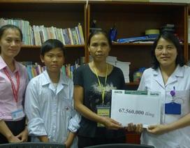 Hơn 67 triệu đồng đến với gia đình bé Trần Đình Quyết