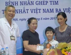 Bệnh nhân ghép tim nhỏ tuổi nhất Việt Nam được ra viện