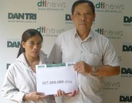 Hơn 107 triệu đồng đến với cô bé Thùy Dương bị tim