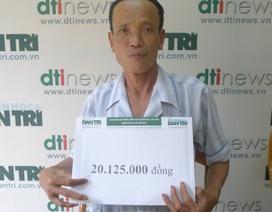 Hơn 20 triệu đồng tiếp tục đến với gia đình bác Bùi Văn Oanh