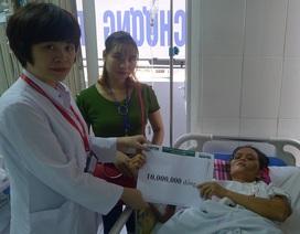 Quỹ Nhân ái hỗ trợ nóng 10 triệu đồng đến chị Hà Thị Phiếu