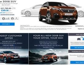 Peugeot bắt đầu bán xe trực tuyến