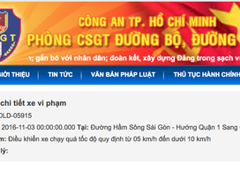 Người dân TPHCM đã có thể kiểm tra xe bị phạt nguội trên Internet