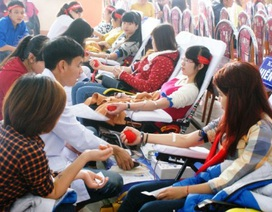 Thiếu 125.000 đơn vị máu dành điều trị dịp Tết