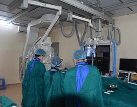BV Đa khoa tỉnh Vĩnh Phúc triển khai thành công kỹ thuật chụp động mạch vành qua da