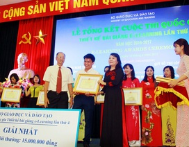 Bộ GD&ĐT trao giải cho 168 bài giảng điện tử xuất sắc trên toàn quốc