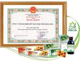 Công ty Dược phẩm Hoa Linh được Bộ Y tế tặng bằng khen