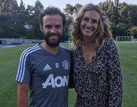 """Juan Mata mừng rỡ khi được gặp """"người đàn bà đẹp"""" Julia Roberts"""
