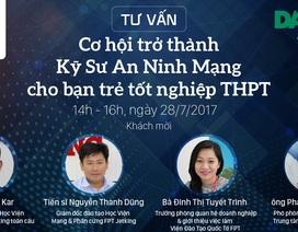 14h chiều ngày 28/7, tư vấn: Cơ hội trở thành Kỹ sư An ninh Mạng cho bạn trẻ tốt nghiệp THPT