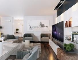 TV OLED siêu mỏng – Điểm nhấn hiện đại cho phòng khách thượng lưu