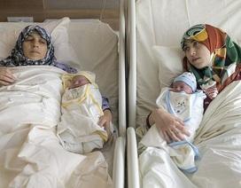 """Mẹ và con gái """"dắt tay nhau đi đẻ"""" trong cùng viện, cùng ngày"""