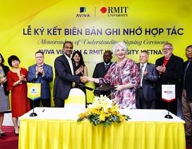 Aviva Việt Nam và ĐH RMIT Việt Nam ký kết biên bản ghi nhớ về thỏa thuận hợp tác