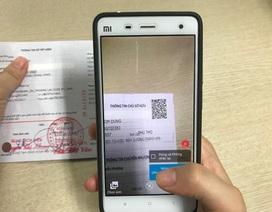 Kiểm tra tiền gửi tại ngân hàng bằng QR code