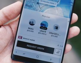 Uber có thêm phương thức thanh toán thứ 3 - Ví điện tử MoMo