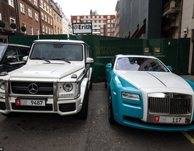 """Dàn siêu xe của dân chơi Trung Đông """"đại náo"""" London"""