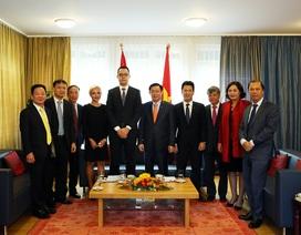 Phó Thủ tướng Vương Đình Huệ thăm và làm việc tại Thụy Sỹ