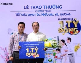 Samsung trao giải 1 tỷ đồng cho khách hàng may mắn