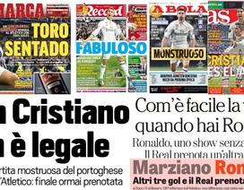 Báo chí thế giới ca ngợi màn trình diễn siêu hạng của C.Ronaldo trước Atletico