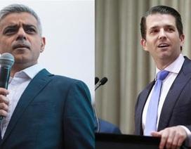 Thị trưởng London không bận tâm tới chỉ trích của con trai ông Trump