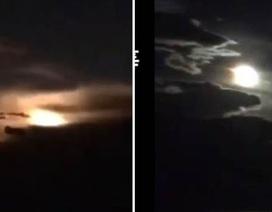 """""""Siêu sao băng"""" phát nổ tạo ra một quả cầu lửa khổng lồ"""