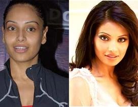 """Người đẹp Bollywood khác lạ """"một trời một vực"""" khi không trang điểm"""