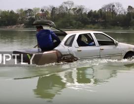 """Thợ máy Trung Quốc chế tạo thành công ô tô """"bơi"""""""