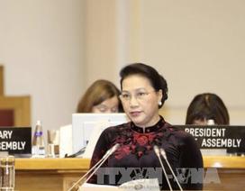 Chủ tịch Quốc hội Nguyễn Thị Kim Ngân phát biểu tại Phiên thảo luận toàn thể Đại hội đồng IPU-137