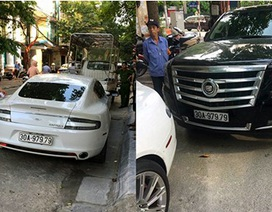 """Hà Nội: Hai siêu xe trùng biển """"thần tài"""", một xe chứa nhiều vũ khí"""
