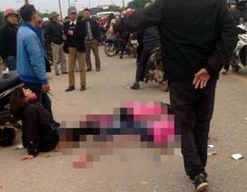 Mẹ gào khóc thảm thiết bên thi thể 2 con gái bị xe khách cán tử vong