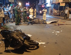 Tai nạn liên hoàn 4 xe máy, 2 người chết, 4 người bị thương
