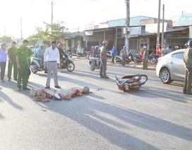 Xe buýt tông một phụ nữ tử vong
