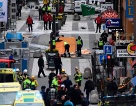 Hiện trường vụ tấn công khủng bố bằng xe tải ở Thụy Điển