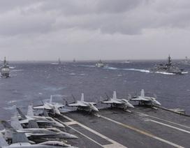 """Mỹ - Ấn - Nhật tập trận rầm rộ """"nắn gân"""" Trung Quốc"""