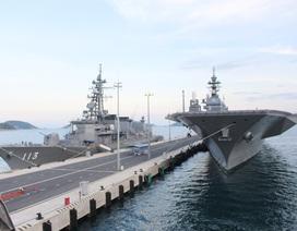 Tận mắt tàu khu trục hàng đầu Nhật Bản và tàu vận tải Mỹ ở cảng Cam Ranh
