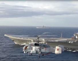 Nga công bố video tàu sân bay tác chiến ở ngoài khơi Syria
