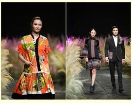 Nón lá, thổ cẩm Việt Nam, vải Nhật Bản lên sàn diễn thời trang